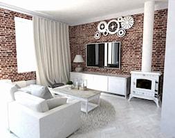 Mały biały salon, styl rustykalny - zdjęcie od Karolina Czapla