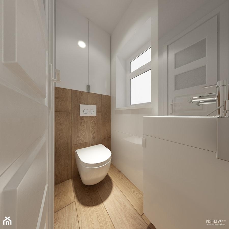 Projekt łazienek. Stratford, Anglia. - Biała łazienka, styl skandynawski - zdjęcie od PRØJEKTYW | Architektura Wnętrz & Design