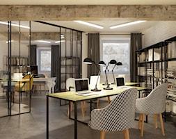 Projekt biura 50m2, Kraków centrum - Średnie białe biuro domowe w pokoju, styl nowoczesny - zdjęcie od PRØJEKTYW | Architektura Wnętrz & Design