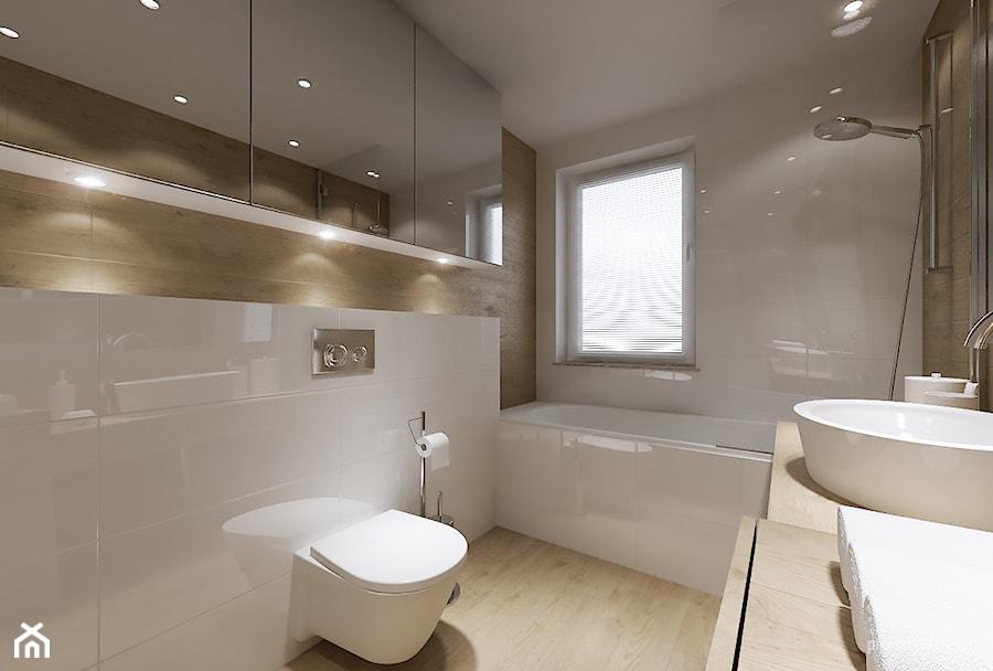 mieszkanie 34m2, Kraków Przewóz - Średnia łazienka, styl nowoczesny - zdjęcie od PRØJEKTYW ...