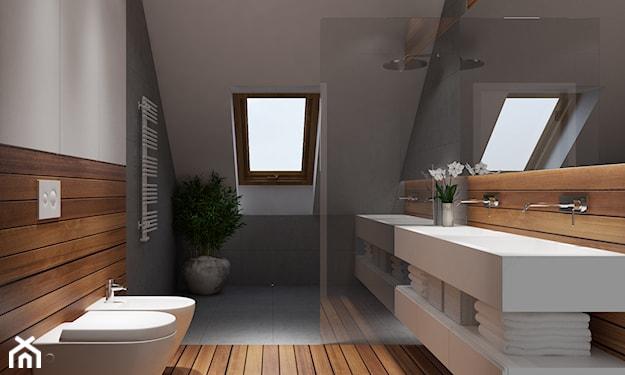łazienka z oknem, łazienka na poddaszu