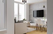 Salon styl Skandynawski - zdjęcie od PRØJEKTYW | Architektura Wnętrz & Design