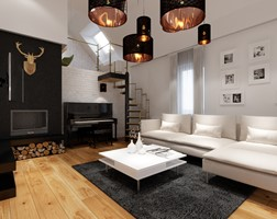Salon styl Nowoczesny - zdjęcie od PRØJEKTYW | Architektura Wnętrz & Design