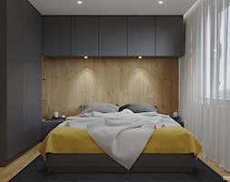 Projekt mieszkania. Kraków Nowe Czyżyny - Sypialnia, styl nowoczesny - zdjęcie od PRØJEKTYW | Architektura Wnętrz & Design