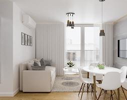 Projekt mieszkania. Kraków Nowe Czyżyny - Salon, styl skandynawski - zdjęcie od PRØJEKTYW   Architektura Wnętrz & Design