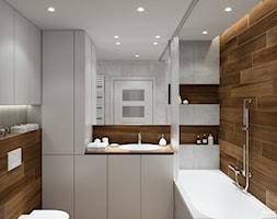 Projekt mieszkania. Kraków Śródmieście - Średnia łazienka w bloku, styl nowoczesny - zdjęcie od PRØJEKTYW   Architektura Wnętrz & Design