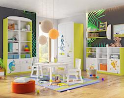 Kolekcje młodzieżowe - Średni szary zielony czarny pokój dziecka dla chłopca dla rodzeństwa dla malucha - zdjęcie od MEBLIK.pl