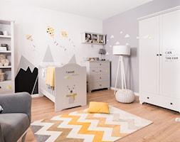 Kolekcja ReStyle - Średni biały szary czarny pokój dziecka dla chłopca dla niemowlaka, styl skandynawski - zdjęcie od MEBLIK.pl