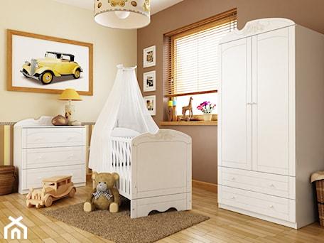 Kolekcje dziecięce - Średni beżowy brązowy pokój dziecka dla chłopca dla niemowlaka - zdjęcie od MEBLIK.pl