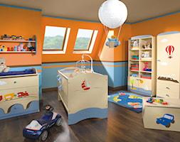 Kolekcje dziecięce - Duży niebieski pomarańczowy pokój dziecka dla chłopca dla niemowlaka - zdjęcie od MEBLIK.pl