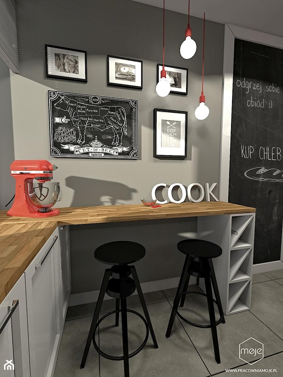 Aranżacje wnętrz - Kuchnia: Mała kuchnia w bloku - Gdańsk, ul. Witosa - Kuchnia, styl eklektyczny - MOJE Pracownia Projektowa. Przeglądaj, dodawaj i zapisuj najlepsze zdjęcia, pomysły i inspiracje designerskie. W bazie mamy już prawie milion fotografii!