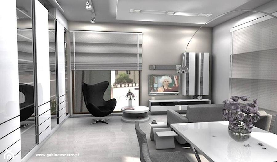 Nowoczesny salon w szarościach - zdjęcie od Le Pukka concept store