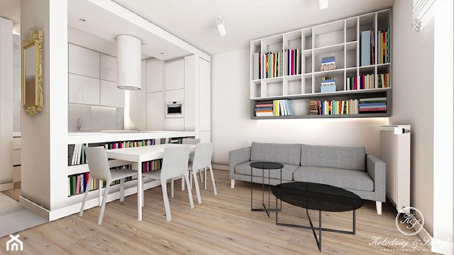 Nowoczesne wnętrza w bieli z dodatkiem ciepłego drewna - zdjęcie od Le Pukka concept store