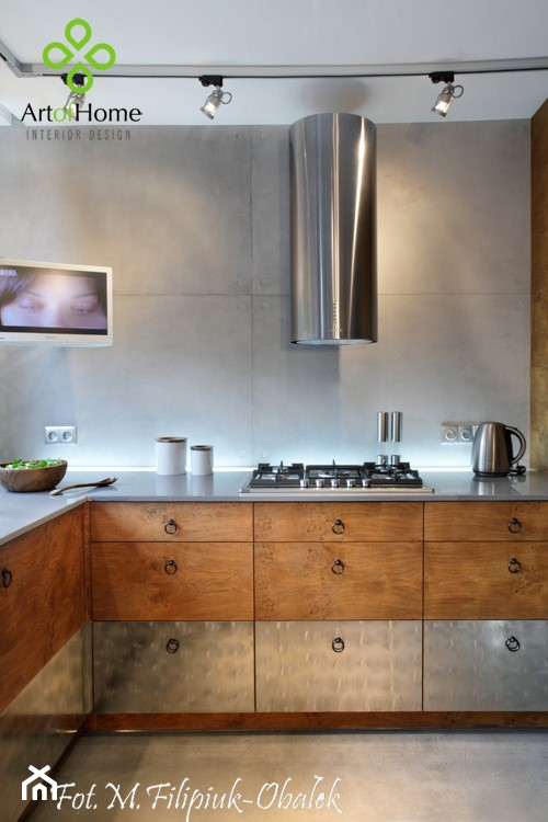 Kuchnia Drewno Beton Kuchnia Styl Industrialny Zdjecie Od Art