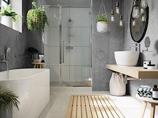 W nowoczesnej łazience