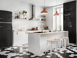 Pomysł na strefę zmywania w kuchni z barem