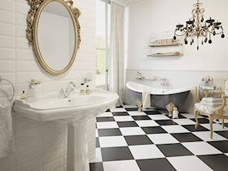 W parze z umywalką i prysznicem – mydelniczka i dozownik