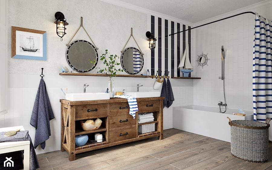 Łazienka - Duża szara łazienka w bloku w domu jednorodzinnym bez okna, styl eklektyczny - zdjęcie od FERRO