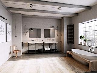 Industrialna łazienka w designerskim wydaniu. Jak ją urządzić? Zobacz wyjątkowy projekt!
