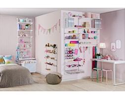 Pokój dziecka - Duży biały beżowy pokój dziecka dla dziewczynki dla rodzeństwa dla malucha dla nastolatka, styl vintage - zdjęcie od Elfa