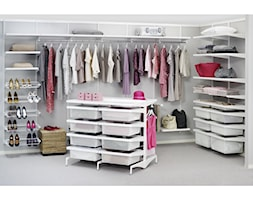 Garderoba - Średnia otwarta garderoba przy sypialni - zdjęcie od Elfa