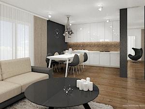 Salon a aneksem kuchennym i jadalnią - zdjęcie od Interium Projekt