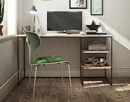 Minimalistyczne biurko PLAIN z drewnianym blatem - zdjęcie od onemarket.pl - meble i dodatki