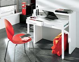 Białe, wysuwane biurko CONSOLE - zdjęcie od onemarket.pl - meble i dodatki