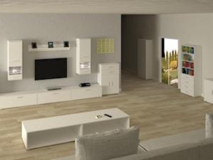 Salon w bieli - prosto i konkretnie. W punkt.