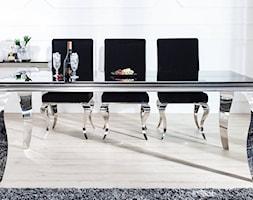 MODERN BAROCK elegancki stół do jadalni w stylu glamour z czarnym blatem i srebrnymi nogami 180 cm - zdjęcie od onemarket.pl - meble i dodatki - Homebook