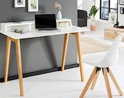 Białe biurko SCANDINAVIA z sekretarzykiem 120cm - zdjęcie od onemarket.pl - meble i dodatki - Homebook