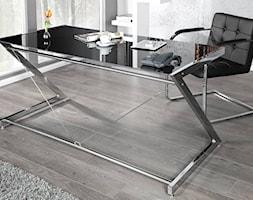 Nowoczesne biurko ze szklanym blatem DEAL czarne - zdjęcie od onemarket.pl - meble i dodatki - Homebook