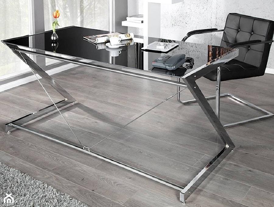Świeże Nowoczesne biurko ze szklanym blatem DEAL czarne - zdjęcie od US84