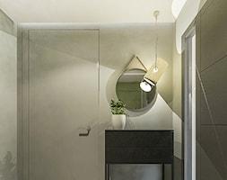 Dom w stylu nowoczesnym w Mielcu. - Mały szary hol / przedpokój, styl nowoczesny - zdjęcie od MEEKO Architekci - Homebook