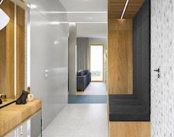 Mieszkanie w stylu nowoczesnym w Rzeszowie. - Średni szary hol / przedpokój, styl nowoczesny - zdjęcie od MEEKO Architekci - Homebook
