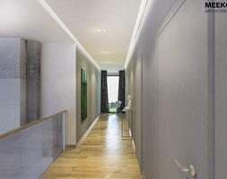 Dom w stylu nowoczesnym w Mielcu. - Duży szary hol / przedpokój, styl nowoczesny - zdjęcie od MEEKO Architekci - Homebook