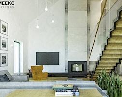 Dom w stylu nowoczesnym w Mielcu. - Średni szary salon, styl nowoczesny - zdjęcie od MEEKO Architekci - Homebook