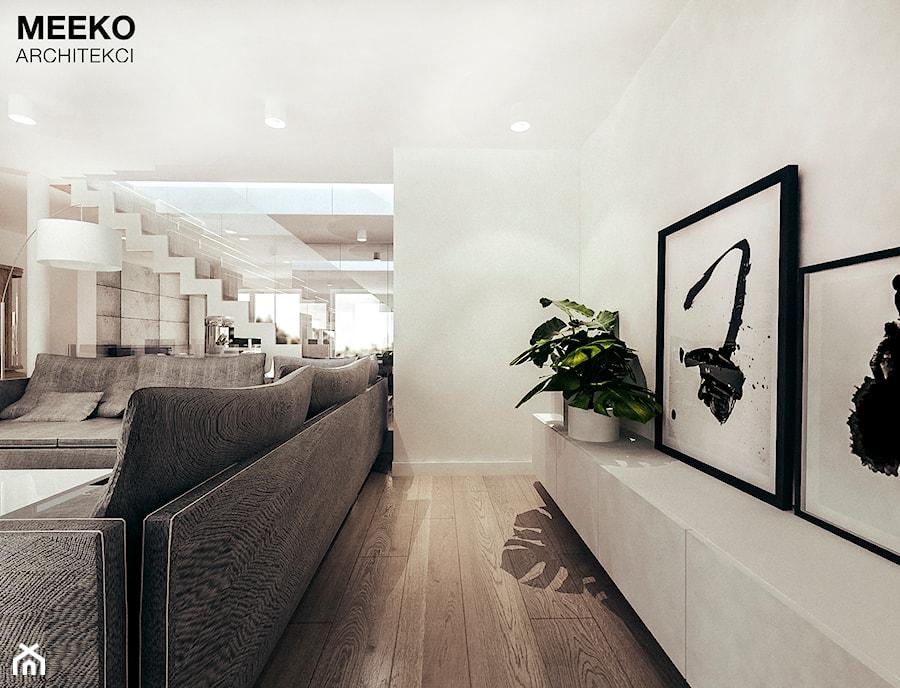 Dom w stylu minimalistycznym - Salon, styl minimalistyczny - zdjęcie od MEEKO Architekci