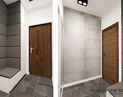 DOM NA OSIEDLU ZACISZE W WARSZAWIE - Mały biały hol / przedpokój, styl minimalistyczny - zdjęcie od design me too