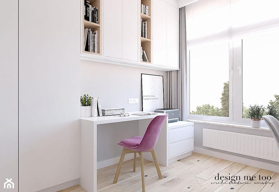 CIEPŁO SKANDYNAWSKICH WNĘTRZ - Średnie szare biuro domowe kącik do pracy w pokoju, styl nowoczesny - zdjęcie od design me too