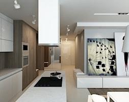 Hol połączony z salonem i aneksem kuchennym - zdjęcie od design me too - Homebook