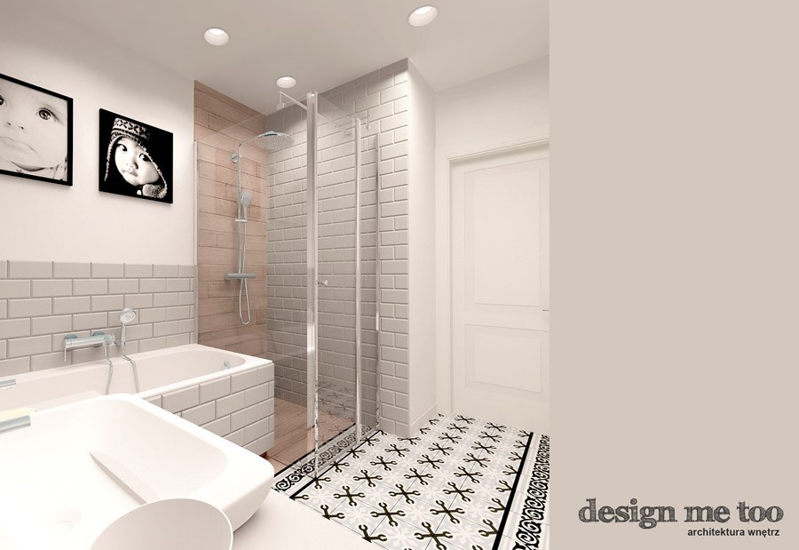 KAWAŁEK NIEBA NA WILANOWIE - Średnia biała łazienka w bloku bez okna, styl nowoczesny - zdjęcie od design me too
