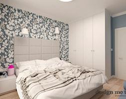 KAWAŁEK NIEBA NA WILANOWIE - Mała kolorowa turkusowa sypialnia małżeńska, styl klasyczny - zdjęcie od design me too