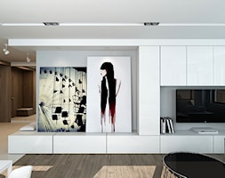 Salon z zabudową TV - zdjęcie od design me too - Homebook
