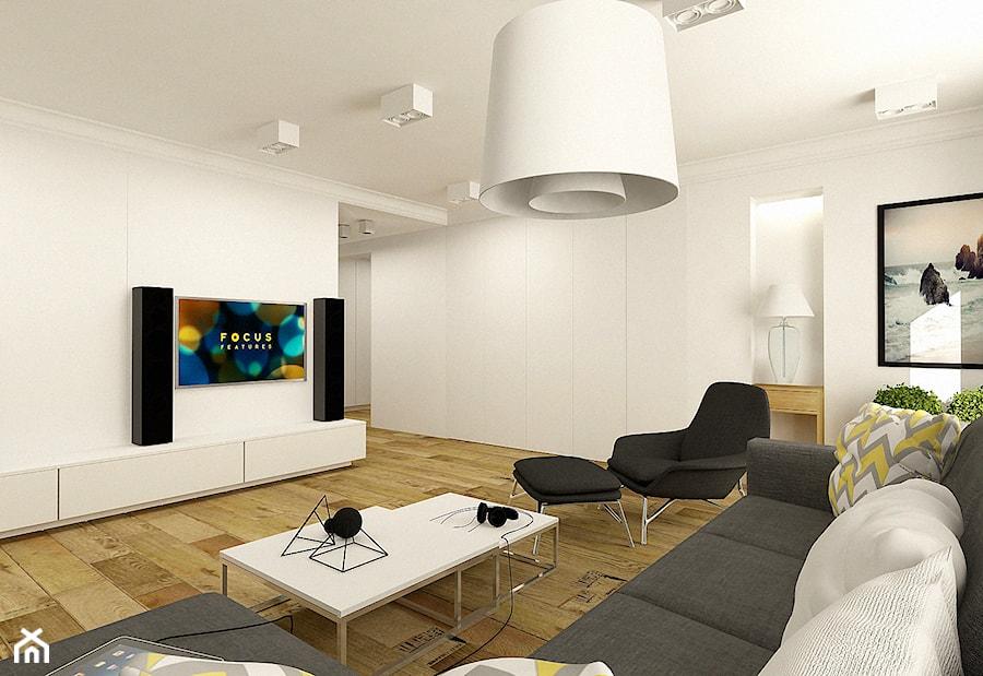 Nowoczesny salon w apartamencie w Tomaszowie Mazowieckim - zdjęcie od design me too - homebook