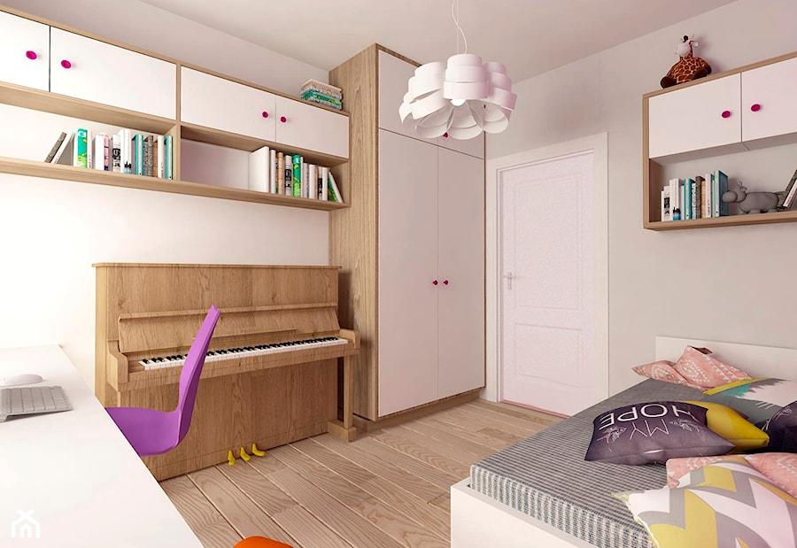 MIESZKANIE NA URSYNOWIE 85 M2 - Średni beżowy pokój dziecka dla dziewczynki dla nastolatka, styl nowoczesny - zdjęcie od design me too