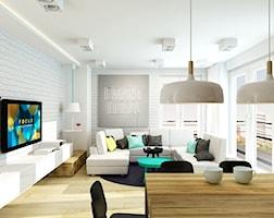 Biały salon z kropelka szaleństwa - zdjęcie od design me too
