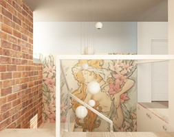 PROWANSALSKO -ANGIELSKI MIX - Wąskie schody drewniane, styl prowansalski - zdjęcie od design me too