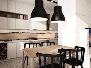SKANDYNAWIA NA ŻOLIBORZU - Mała otwarta biała jadalnia w kuchni, styl skandynawski - zdjęcie od design me too