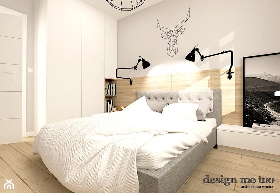 SKANDYNAWIA W NOWOCZESNYM WYDANIU NA WOLI - Średnia biała sypialnia małżeńska, styl skandynawski - zdjęcie od design me too